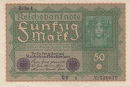 50 REICHSMARK Banknote 1919, Gute Erhaltung, Gefaltet - [ 3] 1918-1933 : République De Weimar