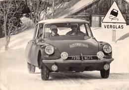 MONTE-CARLO- RALLYE LA DS CITROËN DES FINLANDAIS TOIVINEN-JARVI AU COURS DU RALLYE MONTE-CARLA 1963 - Monaco