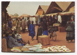 Basse, The Gambia  - Dry Season Market - 1960's Or 70's Modern-size Postcard - Gambia