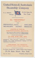 Postal Stationery USA 1912 United States & Australasia Steamship Company - Ships
