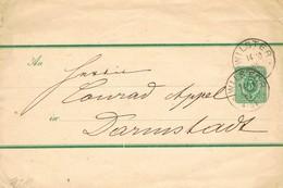 29351. Entero Faja De Publicacion Newpapers WILSTER (Alemania Reich) 1889 - Cartas