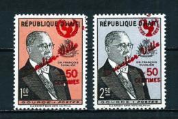 Haití  Nº Yvert  474/5 (sobrecarga)  En Nuevo - Haití