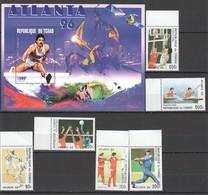 R675 1996 TCHAD CONGO OLYMPIC GAMES ATLANTA 1SET+1BL MNH - Sommer 1996: Atlanta