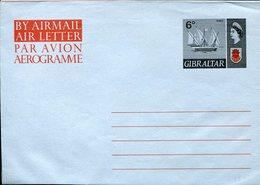 36184 Gibraltar, Aerogramme Air Letter 6d. Showing A Sailing Ship - Gibraltar