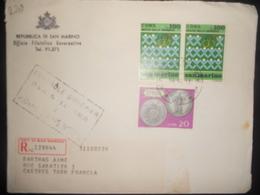 San-marin , Lettre Recommandee De 1973 Pour Castres - Lettres & Documents
