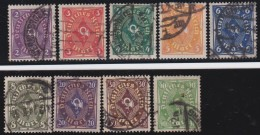 Deutsches Reich  .    Michel      .     224/232        .      O         .        Gebraucht  Mit Falz - Used Stamps