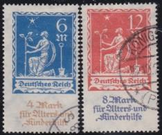 Deutsches Reich  .    Michel      .     233/234       .      O         .        Gebraucht  Mit Falz - Germania