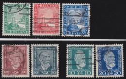 Deutsches Reich  .    Michel      .    7  Marken      .      O         .        Gebraucht  Mit Falz - Germania