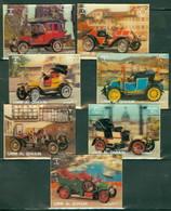 Umm Al Qiwain 1304-1310 Classic Automobiles, Lenticular 3d, Neuf** Sans Charniere, Mint NH, Complete Set Of 7 - Umm Al-Qiwain