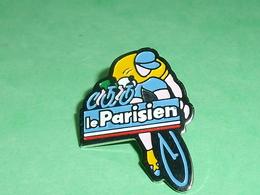 Pin's / Cyclisme , Vélo : Le Parisien   TB1X - Cyclisme