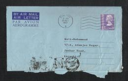 Hong Kong China 1977 Air Mail Postal Used Aerogramme Cover To PAkistan - Other