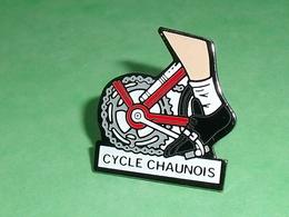 Pin's / Cyclisme , Vélo : Cycle Chaunois   TB1X - Cyclisme