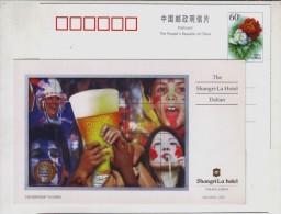 Beer,Football Fans,American Indians Clan Leader,CN02 Dalian Shangri-La Hotel Five Star Diamond Award Pre-stamped Card - Beers