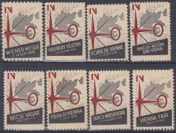 F-EX7021 AUSTRIA CINDERELLA OSTEREICH FAIR VIENNA 1938 MNH DIFFERENT LANGUAGES - Autriche