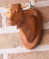 Art-antiquité_sculpture Bois_89_tête De Vache - Wood
