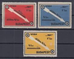 F-EX7124 AUSTRIA CINDERELLA WIEN - BUDAPEST. NO GUM. - Autriche
