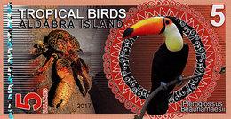 Aldabra Island 5 Dollars 2017  UNC - Fiktive & Specimen
