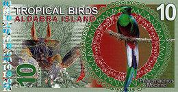 Aldabra Island 10 Dollars 2017  UNC - Fictifs & Spécimens