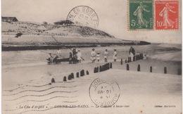 CPA : Contis Les Bains , Le Courant à Basse Mer , Animation - France
