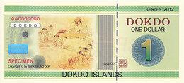 Specimen Île DOKDO Corée 1 Dollar 2012 UNC - Ficción & Especímenes