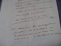 RARE LETTRE AUTOGRAPHE SIGNEE DE DENYS AFFRE 1844 ARCHEVEQUE PARIS Tué BARRICADES REVOLUTION 1848 - Autógrafos