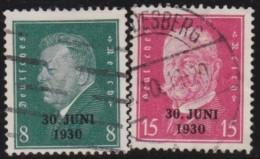 Deutsches  Reich    .   Michel    .     444/445       .         O             .       Gebraucht - Oblitérés