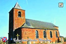 Carte Postale, églises, Churches In Belgium (Hainaut), Oeudeghien, Église Saint-Nicolas - Kirchen U. Kathedralen