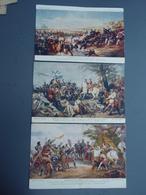 3 Cpa Bataille ALMA, FONTENOY, BOUVINES - Militaria