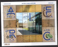 BELGIUM , 2018, MNH, ART, MUSEUMS, AFRICA MUSEUM, SHEETLET - Museums