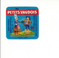 Etiquette De Fromage Des Petits Vaudois - 10 M. - Cheese