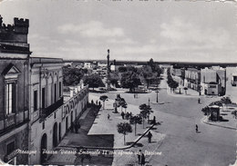 MESAGNE /  Piazza Vittorio Emanuele II Con Sfondo Via Stazione _ Viaggiata - Brindisi