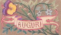 """0187 """"BIGLIETTO DI AUGURI - VIOLETTA"""" DISEGNO ORIGINALE FIRMATO NICOLINO VIGLIO - Other Plans"""