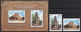 India (2018) - Set + Block -   / Joint Issue With Vietnam - Heritage - Architecture - Gezamelijke Uitgaven