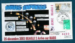 ESPACE - 2003/12 -  Sonde MARS EXPRESS -séparation De  Beagle 2 - CSG - 1 Document - FDC & Commémoratifs