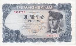 BILLETE DE ESPAÑA DE 500 PTAS DEL 23/07/1971 SIN SERIE EN CALIDAD BC - [ 3] 1936-1975: Regime Van Franco
