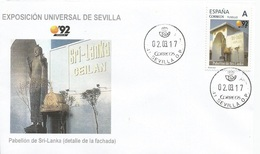 "SPAIN. COVER EXPO'92 SEVILLA. SRI LANKA PAVILION. ""TU SELLO"" - 1931-Hoy: 2ª República - ... Juan Carlos I"