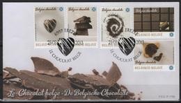 Belgique (2013)  - FDC -  /  Chocolate - Cacao - Cocoa - Chocolat - Unusual SCENTED - Flora