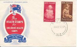 New Zealand FDC Health Stamps 1-10-1952 Complete Set With Cachet - FDC