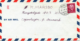 Japan Air Mail Cover Sent To Denmark Yokohama 31-1-1981 Single Franked - Luchtpost