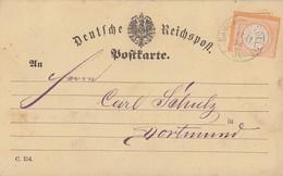 DR Karte EF Minr.18 K1 Dahl An Der Vollme 11.11.74 Gel. Nach Dortmund - Deutschland