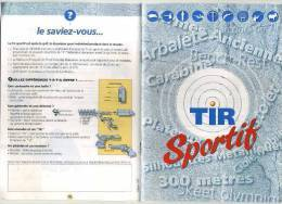 - TIR SPORTIF . FASCICULE DE LA FEDERATION FRANCAISE DE TIR . - Sports