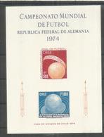 CHILE HOJITA SIN DENTAR COPA MUNDIAL DE FUTBOL ALEMANIA 1974 WORLD CUP FOOTBALL - Copa Mundial