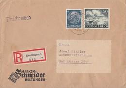 DR R-Brief Mif Minr.514,842 Reutlingen - Briefe U. Dokumente