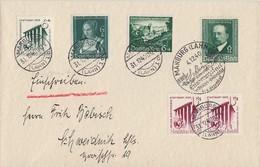 DR R-Brief Mif Minr.692,2x 693,700,748,760 Marburg 31.12.40 - Deutschland