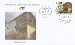 "SPAIN. COVER EXPO'92 SEVILLA. CUBA PAVILION. ""TU SELLO"" - 1931-Hoy: 2ª República - ... Juan Carlos I"