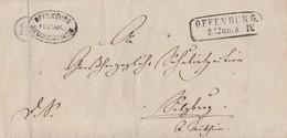 Baden Brief Offenburg 22.6.mit Uhrradst. Nr.18 Und Postablagest. Offenburg-Niederschopfheim - Baden