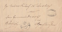 Baden Brief Mit Postablagestempel Bischofsheim-Werbach - Baden