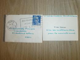 Carte De Visite       YVES  DENEF   ASNIERES/SUR/SEINE FRANCE - Cartes De Visite