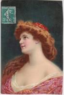 Bq - Cpa Illustrée Henriot - Belle Femme Rousse - Henriot