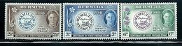Bermuda     First Postage Stamp    Set    SC# 135-37 Mint - Bermudes
